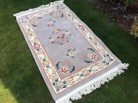 vintage large lilac floral rug