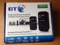 BT Broadband Extender Flex 500 Kit, boxed as new, complete.