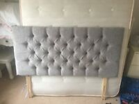 Grey headboard for double bed