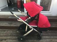 UppaBaby Vista 2015 in red with Carry cot & Toddler seat