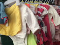 brand new\for sale Up to 1 month Babygirl Clothes(Bundle of Clothes) from a smoke and pet free house