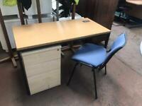 1200mm x 600mm Office Desk - Oak Wood Veneer