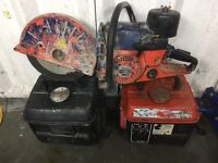 2x generators 1x petrol saw, grinder.