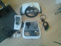 Xbox 360 steering wheel + more