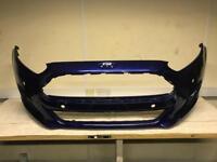 Ford Fiesta mk8 2012 front bumper in blue