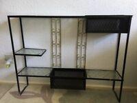 Vintage reworked wall display unit