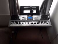 RockJam RJ661 61 Key Electronic Piano Keyboard with Stand and Headphones [no stool]
