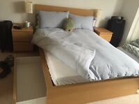 Malm IKEA double bed with matress
