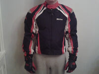 Weise Laguna Large Motorcycle Jacket Full Armour, Matching Weise Gloves & Box Helmet