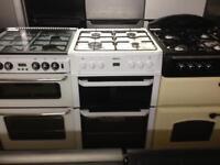 Beko white 60cm gas cooker