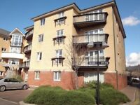 Nicely presented one bedroom, top floor flat in gated development in Cardiff Bay.