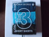 Bjorn Borg Green x3 Boxer Brief Cotton Trunks XL