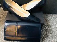 Matching navy shoes & bag