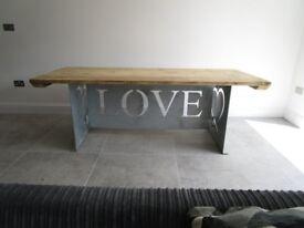 Industrial dining table custom made, reclaimed wood,kitchen table,outdoor table, reclaimed wood ,