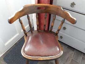 Oak captains chair