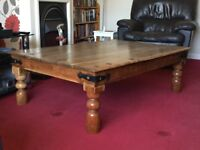 Large, solid wood, old coffee table