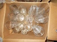 Assorted beer whisky & wine glasses joblot 80 or more