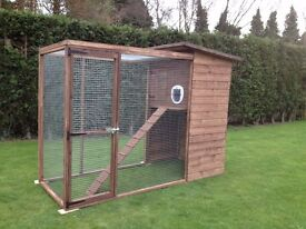 NEW CAT HOUSE & RUN/CHICKEN COOP