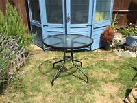 Small glass garden table