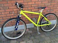 Raleigh aluminium framed mountain bike