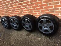 Audi A4 Alloy Wheels with tyres - FIT VW TRANSPORTER CAMPER VAN