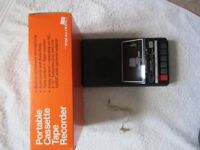 Brand new VINTAGE Realistic portable Cassette Tape Recorder with cue review CTR-60 and pristine ....
