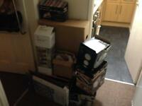 FREE pile of cardboard boxes - good for moving or storage