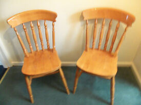 Two Dinning room chairs in very good condition offers around £30