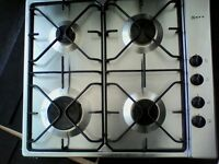 Neff stainless steel gas hob