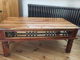 COFFEE TABLE - LARGE - SOLID WOOD - GOOD CONDITION