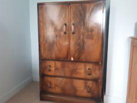 Cabinet - antique walnut style