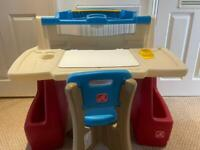 Step 2 deluxe activity desk and stool