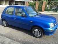 1999 Nissan Micra, automatic, blue,1.0L, 1 yr mot,