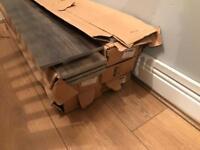 Gloss floor tiles brown