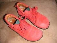 women's red suede ankle boots, size 6
