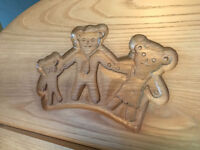 Baby/ toddler wooden hand-carved furniture: wardrobe, cot bed, changing station