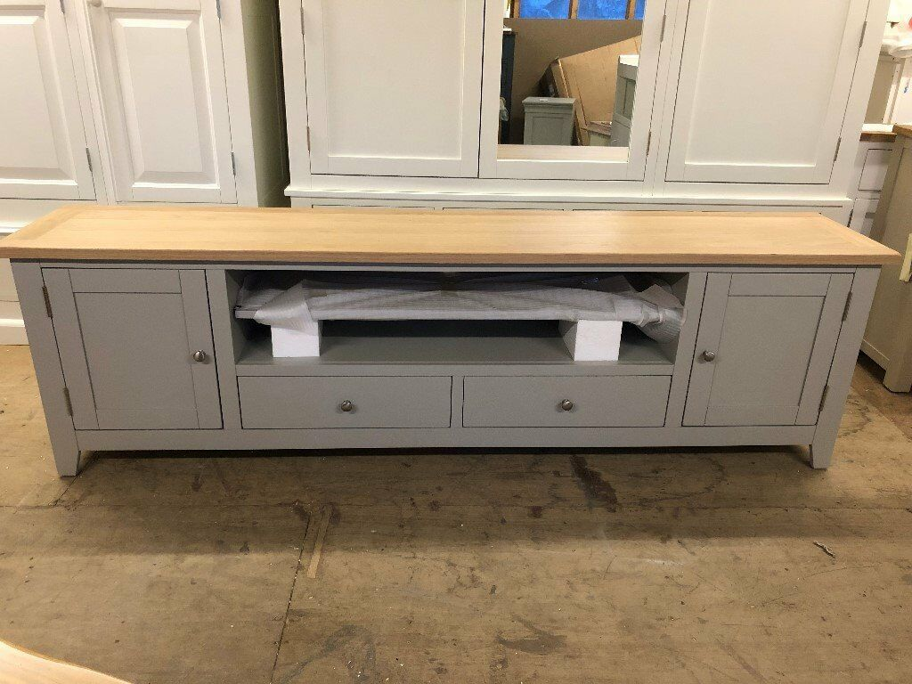 Chester Grey Extra Large Tv Stand Up To 99 In Norwich Norfolk