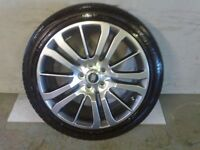 ALLOYS X 4 OF 20 INCH GENUINE RANGEROVER/OR/DISCOVERY/FULLY POWDERCOATED IN A STUNNING SHADOW/CHROME