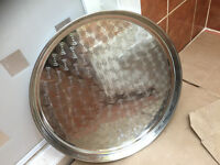 stainless steel metal pan plate pot dish 45cm (18 inch)