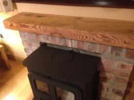 beam mantle CAN CUT TO EXACT SIZE fireplace stove hearth kitchen livingroom oak & pitch pine superb