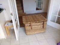 Large wicker basket - great for storage of all kinds of things!