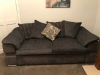 LIKE BRAND NEW - 3 seater sofa and swivel chair