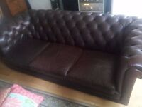 Leather Chesterfield 3 seater settee