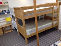 NEW OFFER: 3ft Single Corona style bunk bed, Waxed finish, AND 2 Comfort mattresses - all just £239!