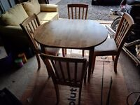 Extendable table and chairs set