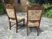Pair of antique dining chairs