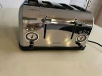 Silver/ grey Blanupunkt toaster