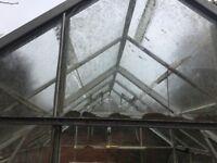 Glass & Aluminium Greenhouse 3m x 3.25m approx. FREE