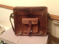 Handmade large leather satchel/messenger bag