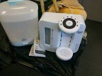 Baby avent steam sterilizer and tommee tippee bottle warmer